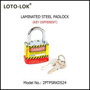 STEEL LAMINATED SAFETY LOCKOUT PADLOCK