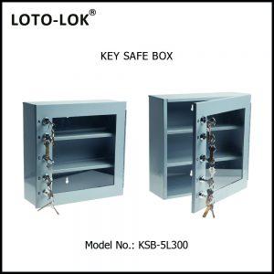 KEY SAFE BOX, 1.2MM STEEL, GREY