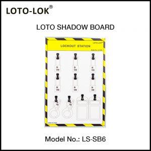 LOTO SHADOW BOARD, 6 / 12 / 24 / 36 / 50 / 100 PADLOCKS, (Empty Board)
