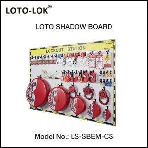 LOTO SHADOW BOARD, ELECTRICAL & MECHANICAL, (With Contents)