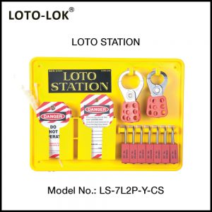 LOTO STATION, MOLDED PLASTIC / ACRYLIC (With Contents)