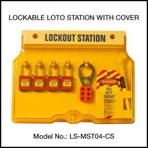 LOTO STATION, MOLDED PLASTIC (With Contents)