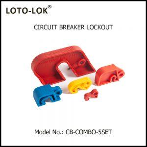 CIRCUIT BREAKER LOCKOUT, SET OF 5 Pcs., CB-COMBO-5SET