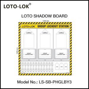 LOTO SHADOW BOARD, GROUP LOCKOUT STATION, (Empty Board)