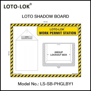 LOTO SHADOW BOARD, WORK PERMIT STATION, (Empty Board)