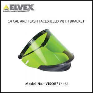 DELTAPLUS ELVEX® ARCFIT 14™ FACESHIELD WITH BRACKET