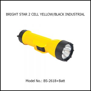 BRIGHT STAR 2 CELL YELLOW/BLACK INDUSTRIAL