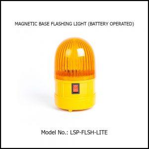 MAGNETIC BASE FLASHING LIGHT (BATTERY OPERATED)