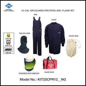 NSA (USA) ARCGUARD PROTERA ARC FLASH KIT (MEN), ARC RATING: 12 CAL/CM² , HRC 2