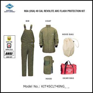 NSA (USA) 40 CAL ARCGUARD REVOLITE ARC FLASH PROTECTION KIT