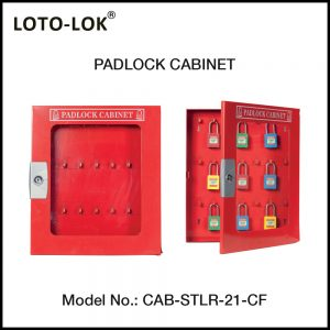 PADLOCK CABINET, STEEL CABINET WITH CLEAR ACRYLIC FASCIA