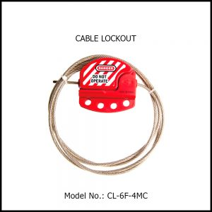 CABLE LOCKOUT, ADJUSTABLE WITH STAINLESS STEEL PVC COATED CABLE