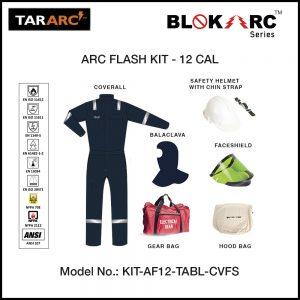 ARC FLASH KIT (MEN), ARC RATING: 12 CAL/CM² , HRC 2 (COVERALL, FACESHIELD, HARD HAT & BALACLAVA)