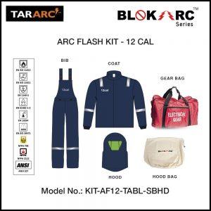 ARC FLASH KIT (MEN), ARC RATING: 12 CAL/CM² , HRC2 (BIB, 32″ COAT & HOOD)
