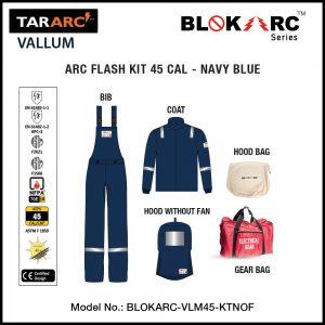VALLUM ARC FLASH KIT (MEN), ARC RATING: 45 CAL/CM² , HRC 4 (BIB, 32″ COAT, HOOD)