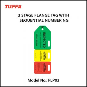 3 STAGE FLANGE TAGS WITH SEQUENTIAL NUMBERING