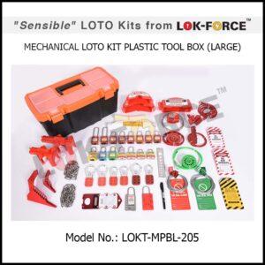 LOTO MECHANICAL KIT PLASTIC TOOL BOX – LARGE