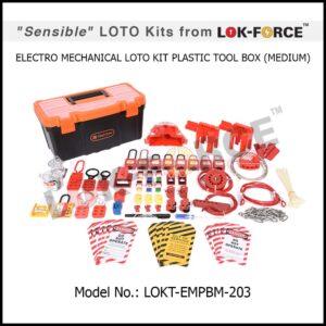 LOTO ELECTRO-MECHANICAL KIT PLASTIC TOOL BOX – MEDIUM
