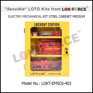 LOTO ELECTRO-MECHANICAL KIT STEEL CABINET – MEDIUM