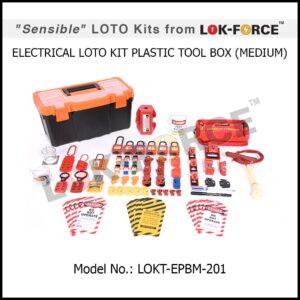 LOTO ELECTRICAL KIT PLASTIC TOOL BOX – MEDIUM