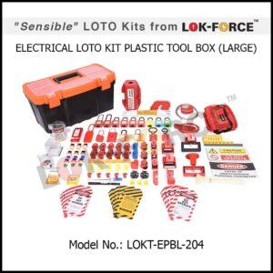 LOTO ELECTRICAL KIT PLASTIC TOOL BOX – LARGE
