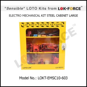 LOTO ELECTRO-MECHANICAL KIT STEEL CABINET – LARGE