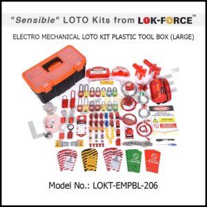 LOTO ELECTRO-MECHANICAL KIT PLASTIC TOOL BOX – LARGE