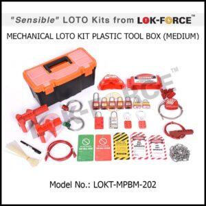 LOTO MECHANICAL KIT PLASTIC TOOL BOX – MEDIUM