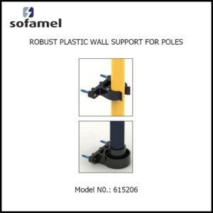 ROBUST PLASTIC WALL SUPPORT FOR POLES