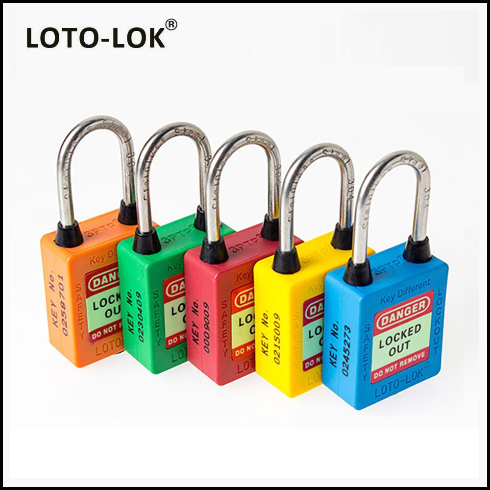 PLASTIC SAFETY LOCKOUT PADLOCKS